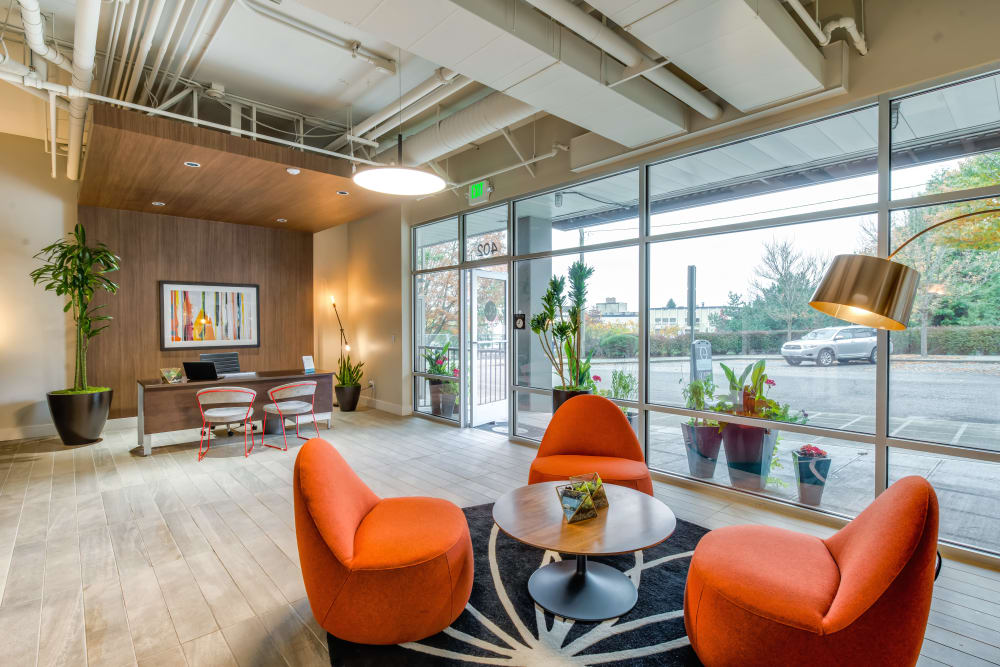 Luxurious lobby interior at Verse Seattle in Seattle, Washington
