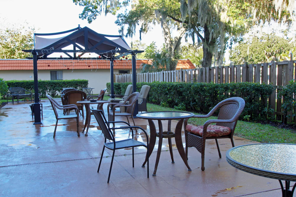 An outdoor area at Bradenton Oaks in Bradenton, Florida