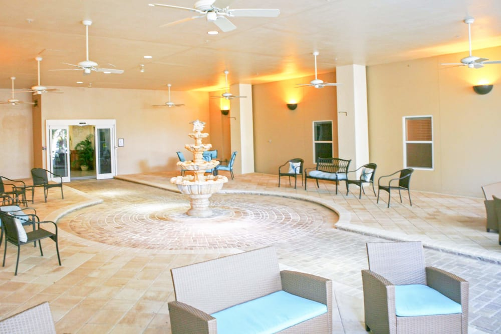 The elegant lobby at The Grande in Brooksville, Florida