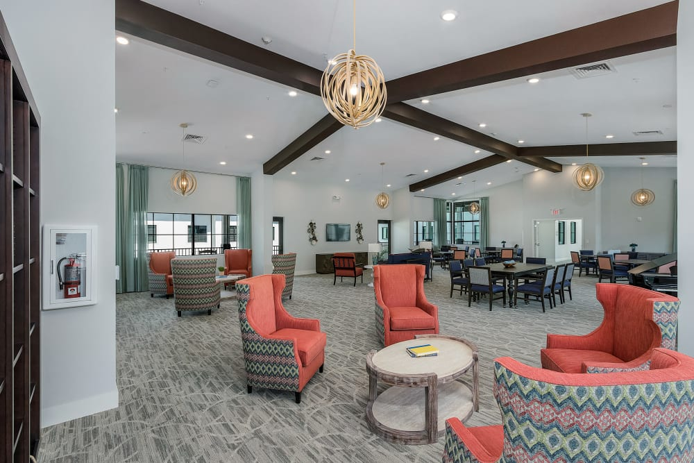 One of the many community areas at Atrium at Liberty Park in Cape Coral, Florida