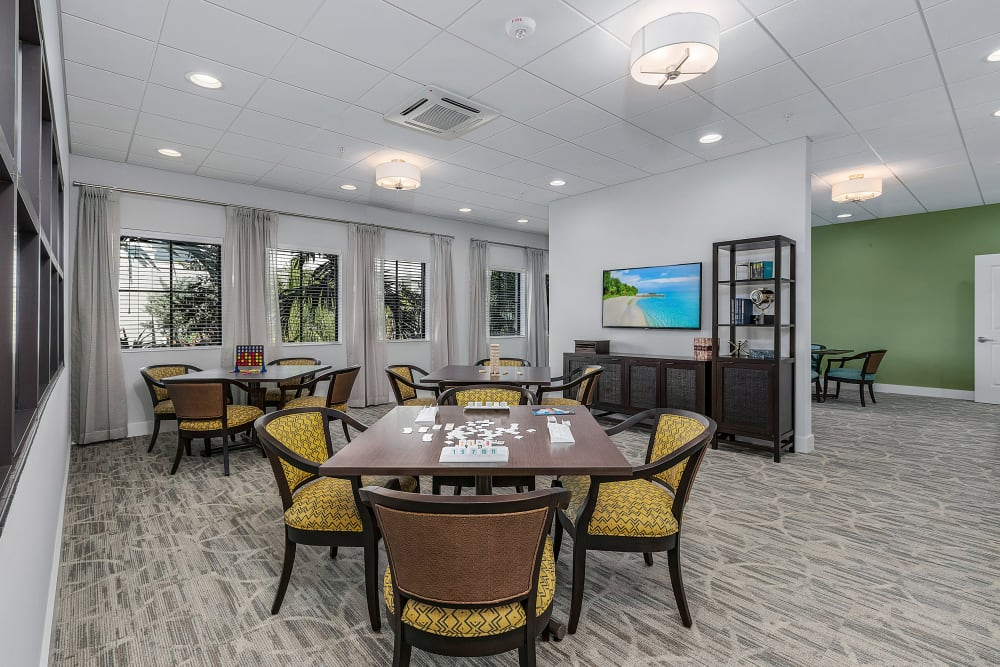 A comfortable community area at Atrium at Liberty Park in Cape Coral, Florida