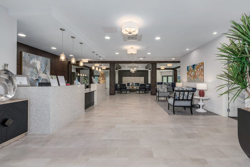 The lobby at Atrium at Liberty Park in Cape Coral, Florida