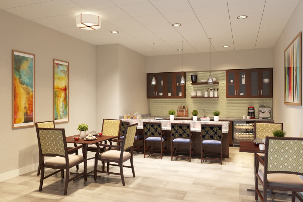 A bright and welcoming dining area at Atrium at Liberty Park in Cape Coral, Florida