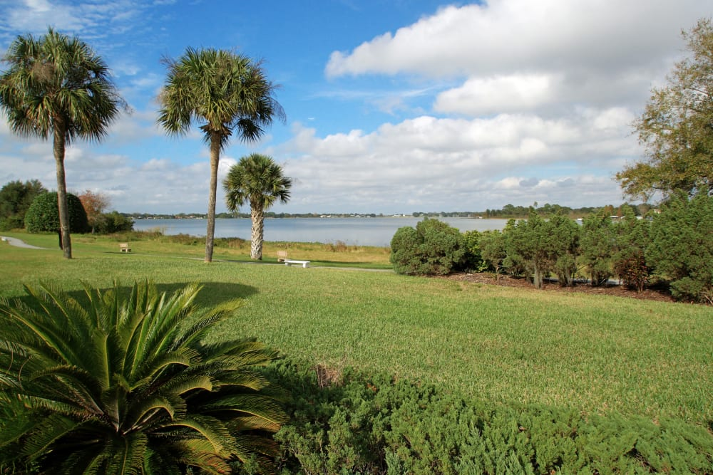 Enjoy beautiful grounds and walking trails at Spring Haven in Winter Haven, Florida