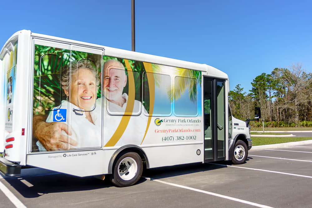 Transportation services are available at Gentry Park Orlando in Orlando, Florida