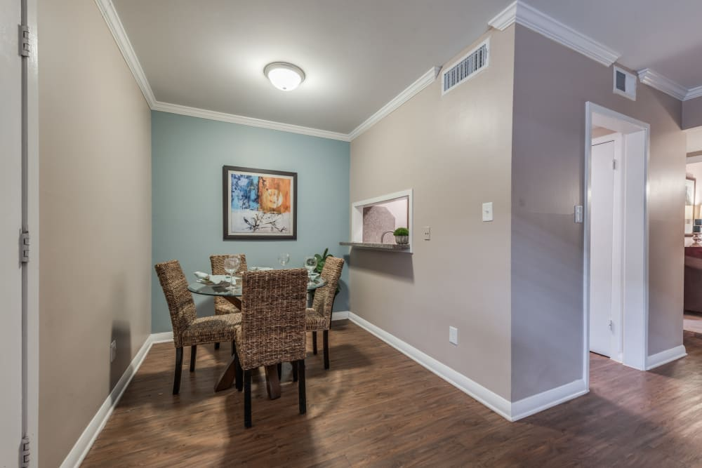 Cozy dining room at The Villages at Meyerland in Houston, Texas