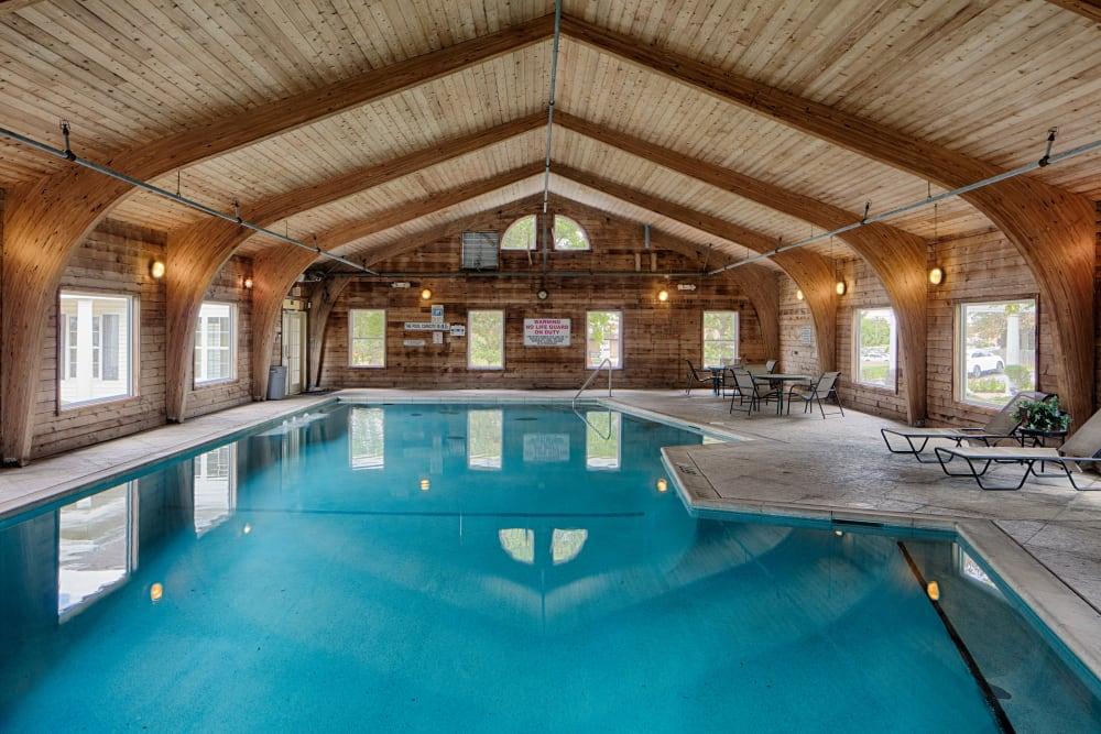 Beautiful indoor swimming pool at Oxford Hills in St. Louis, Missouri