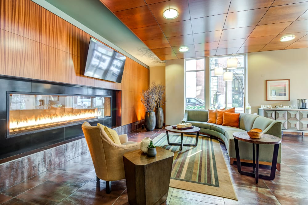 Clubhouse lounge at The 101 in Kirkland, Washington