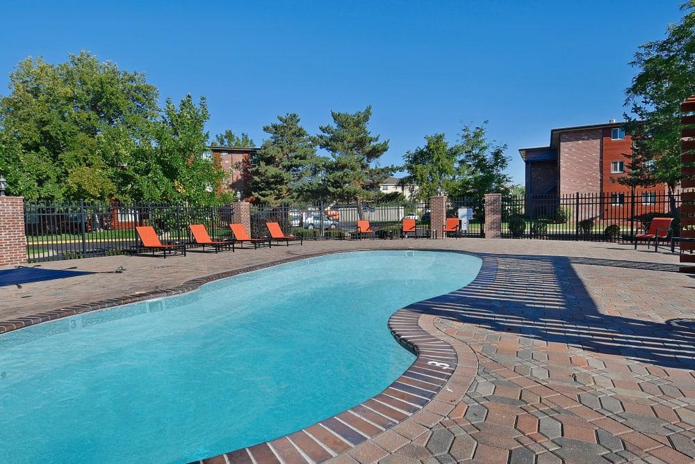 Resort-style swimming pool at Ten49 in Broomfield, Colorado