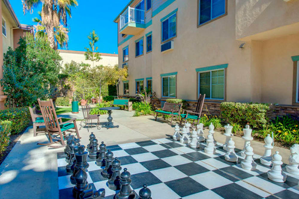 Outdoor games at Cypress Place in Ventura, California