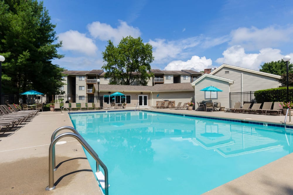 Resort style pool at Hickory Woods Apartments in Roanoke, Virginia