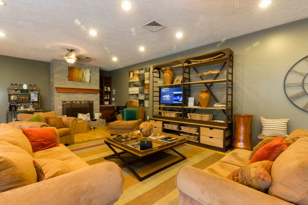 Great communal couches at Hickory Woods Apartments in Roanoke, Virginia