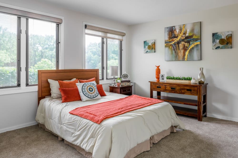 bright bedroom at Ramsey Village Continuing Care in Des Moines, Iowa