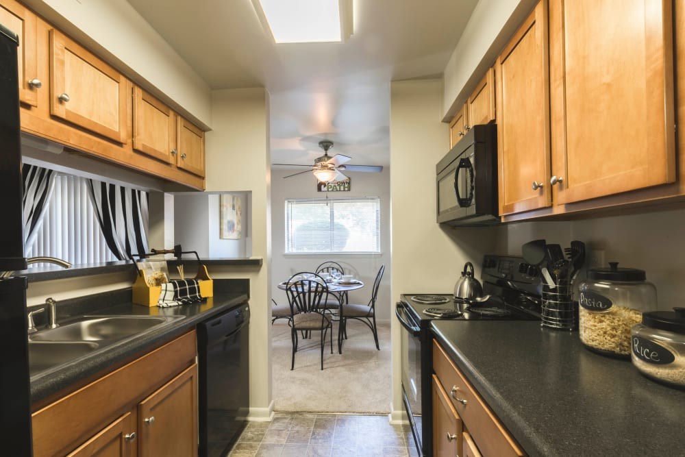 Bright Hickory Woods Apartments kitchen in Roanoke, Virginia