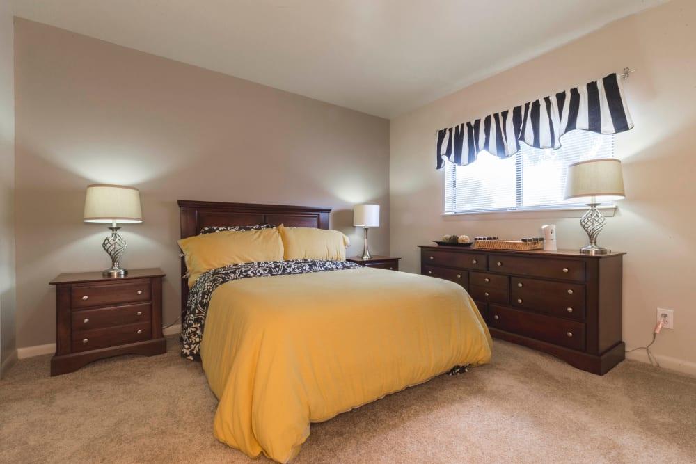 Beautiful bedroom at Hickory Woods Apartments in Roanoke, Virginia