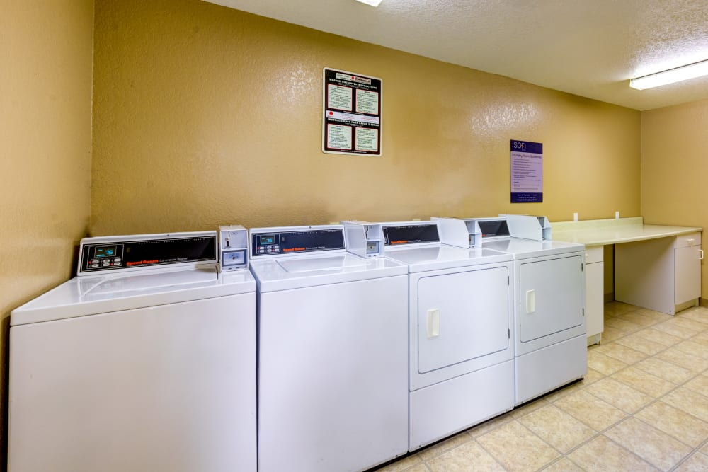 Onsite laundry center at Sofi Irvine in Irvine, California