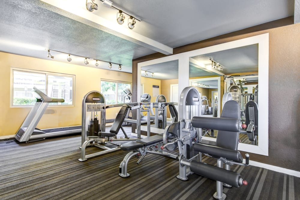 Well-equipped onsite fitness center at Sofi Poway in Poway, California
