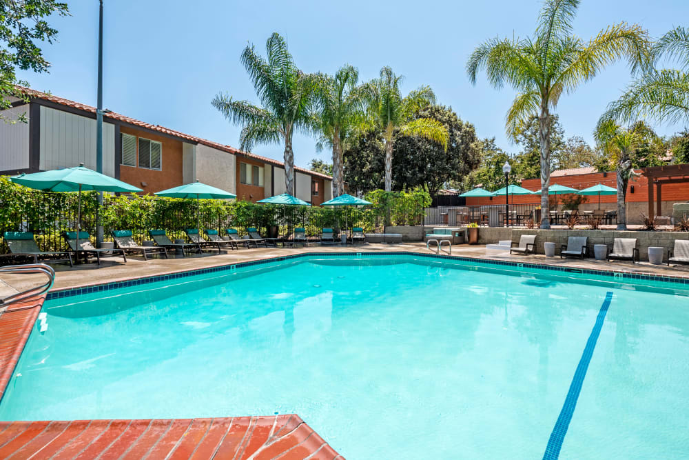 Plenty of places to relax near the pool at Sofi Thousand Oaks in Thousand Oaks, California