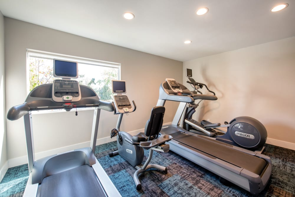 Treadmills in the fitness center at Sofi Thousand Oaks in Thousand Oaks, California