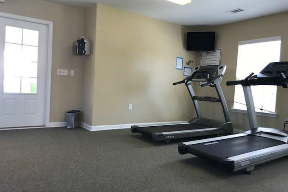 Treadmill room at The Village at Mill Creek in Statesboro, Georgia