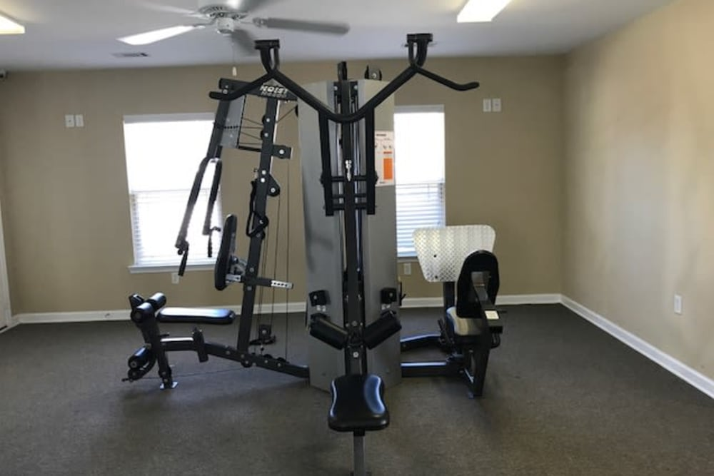 Fitness equipment at The Village at Mill Creek in Statesboro, Georgia