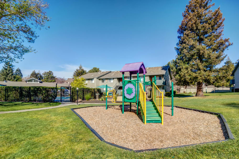 Onsite children's playground at Vue Fremont in Fremont, California