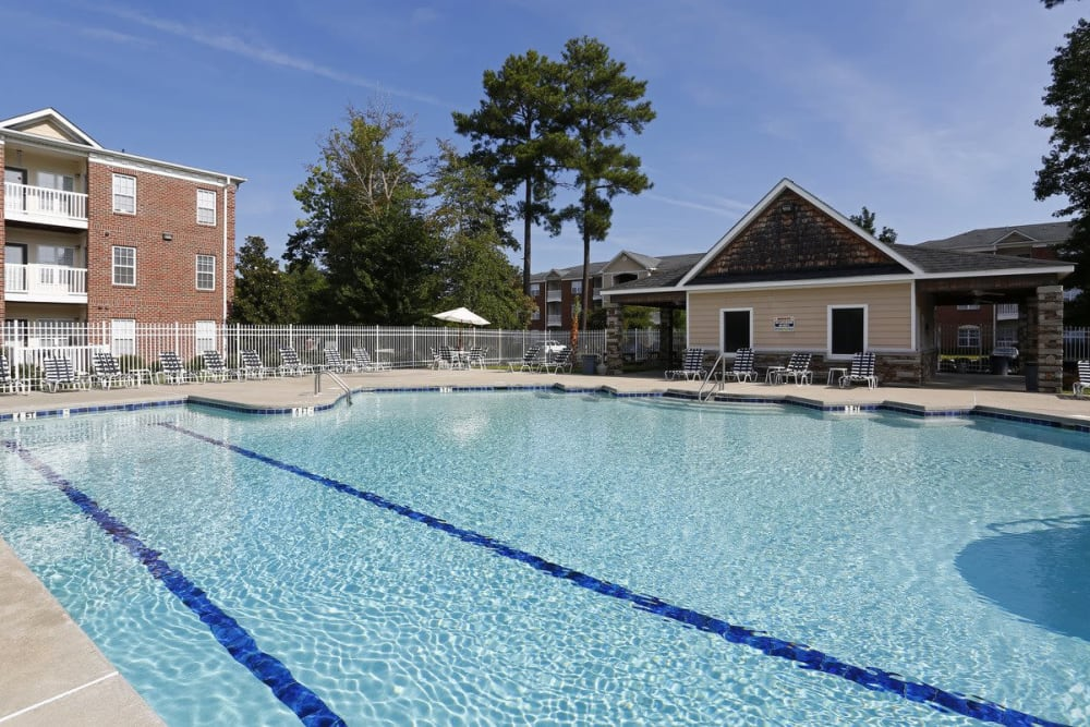 Sparkling pool at Waterford Place in Greenville, North Carolina