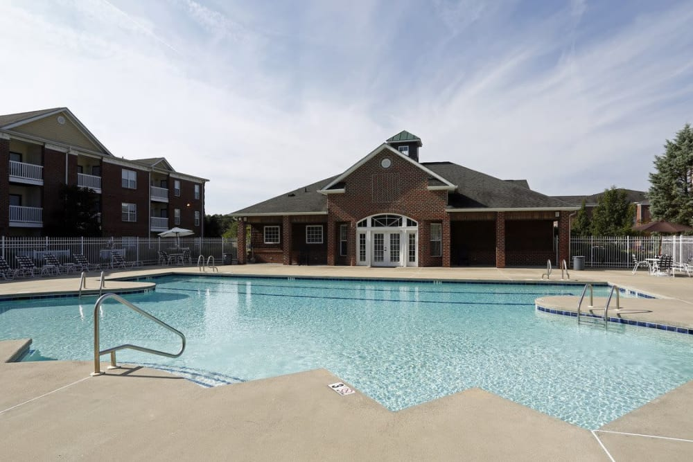 Outdoor swimming pool at Waterford Place in Greenville, North Carolina