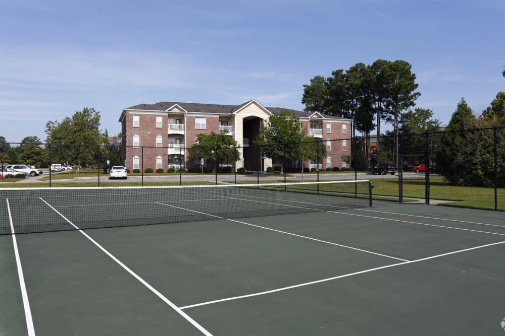 Outdoor tennis court at Waterford Place in Greenville, North Carolina