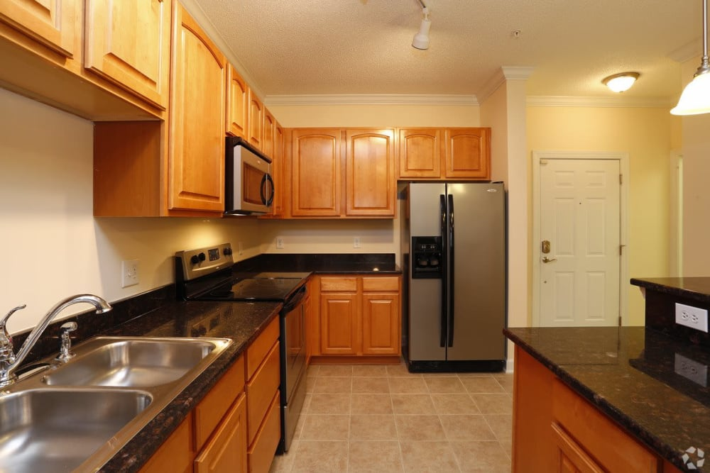 Kitchen area at Waterford Place in Greenville, North Carolina