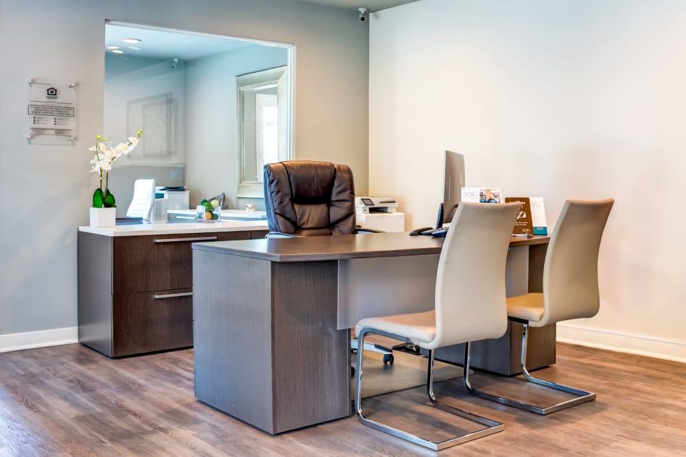 Leasing office interior at Sofi Berryessa in San Jose, California