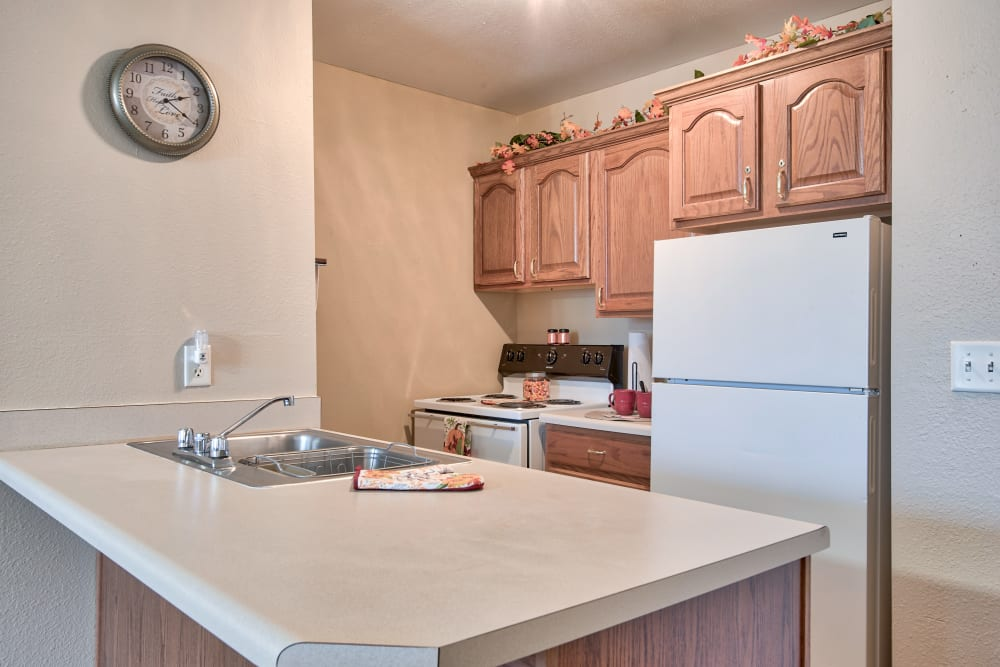 Full kitchen in a home at The Villas at St. James in Breese, Illinois