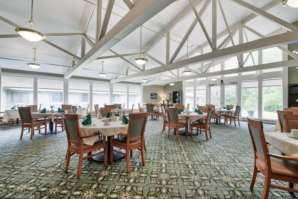 A beautiful dining hall at The Country House in Westchester in Yorktown Heights, New York