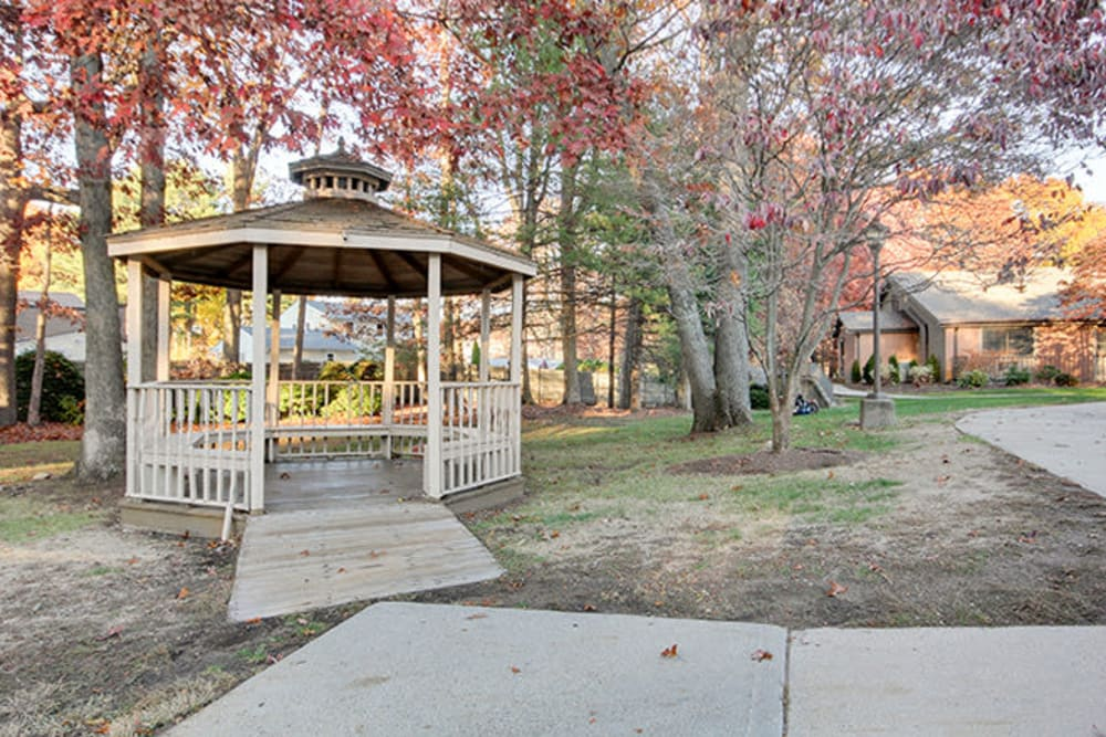 Gazebo at Smithfield Woods in Smithfield, Rhode Island