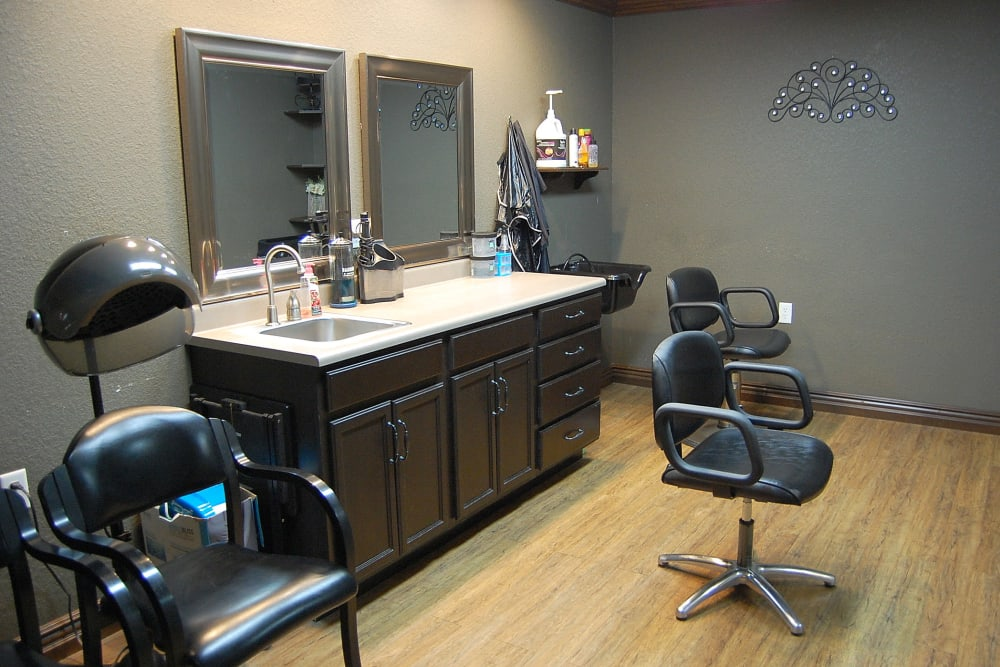 Hair salon at Villas of Holly Brook Chatham in Chatham, Illinois