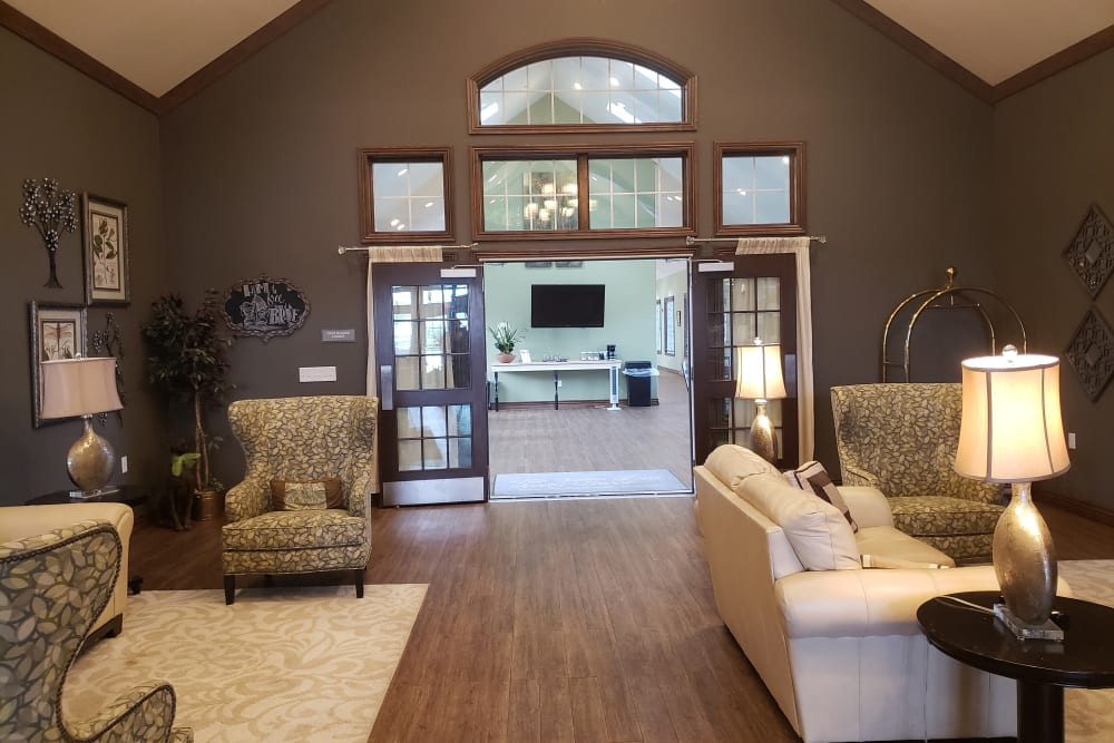 Foyer and reception for Villas of Holly Brook Chatham in Chatham, Illinois