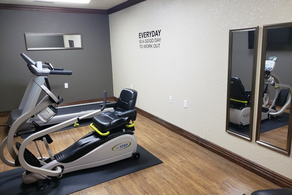 small fitness studio onsite at Villas of Holly Brook Chatham in Chatham, Illinois