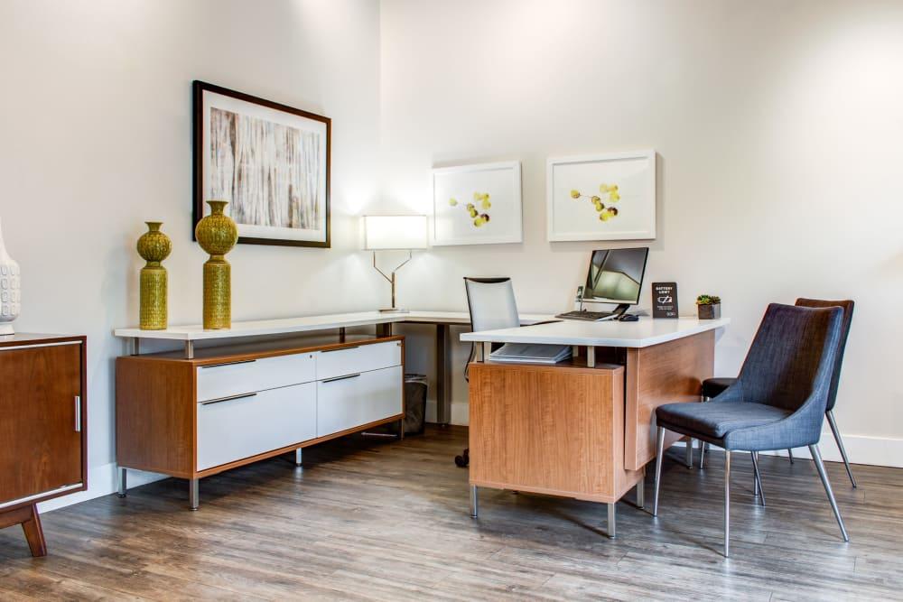 Leasing office interior at Sofi Dublin in Dublin, California