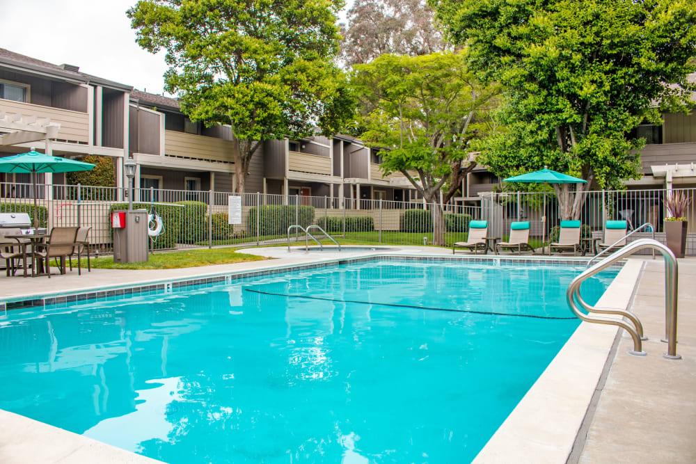 Sparkling swimming pool at Sofi Dublin in Dublin, California