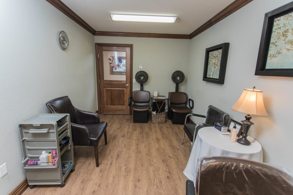 Onsite salon for residents of Villas of Holly Brook Effingham in Effingham, Illinois