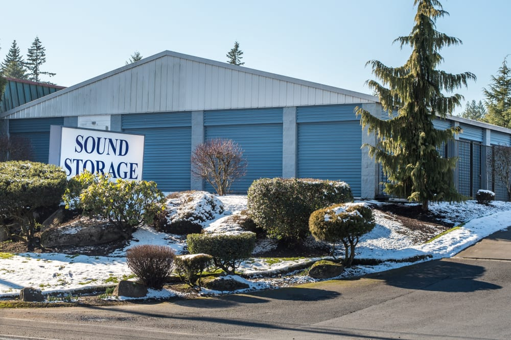 The front entrance to Sound Storage in Port Orchard, Washington
