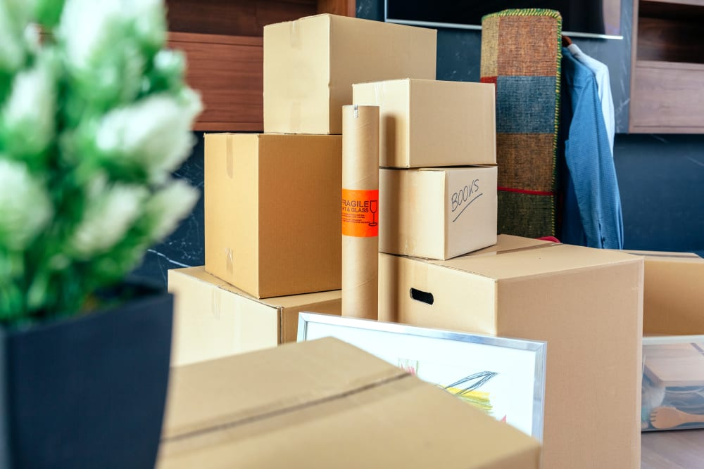 Various moving and packing supplies at Devon Self Storage in Sterling, Virginia