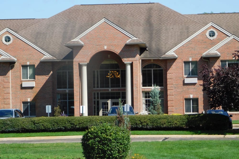 Exterior on a sunny day at Brentwood at Elkhart in Elkhart, Indiana