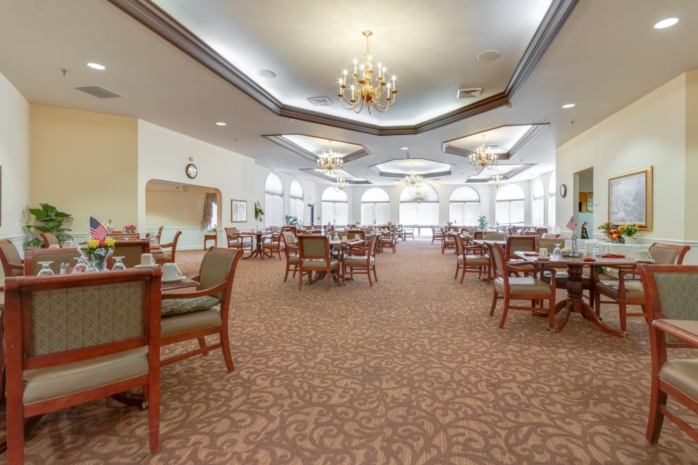 Large dining hall at Eastlake Terrace in Elkhart, Indiana