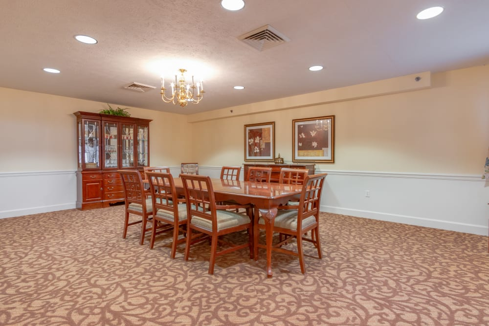 Dining room at Eastlake Terrace in Elkhart, Indiana