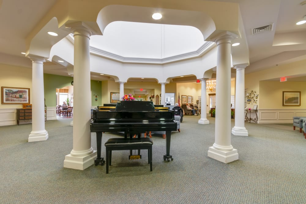 Grande piano at Eastlake Terrace in Elkhart, Indiana