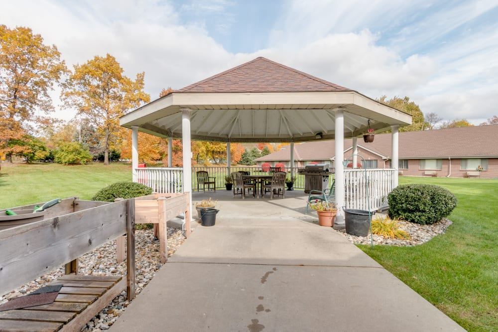 Exterior gazebo at Eastlake Terrace in Elkhart, Indiana