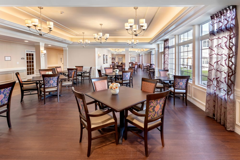 Dining hall at Brooklyn Pointe in Brooklyn, Ohio