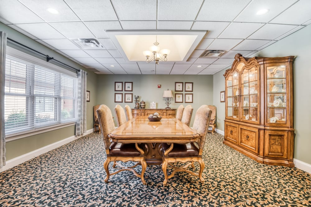 Private family dining room at The Meadowlands in O'Fallon, Missouri