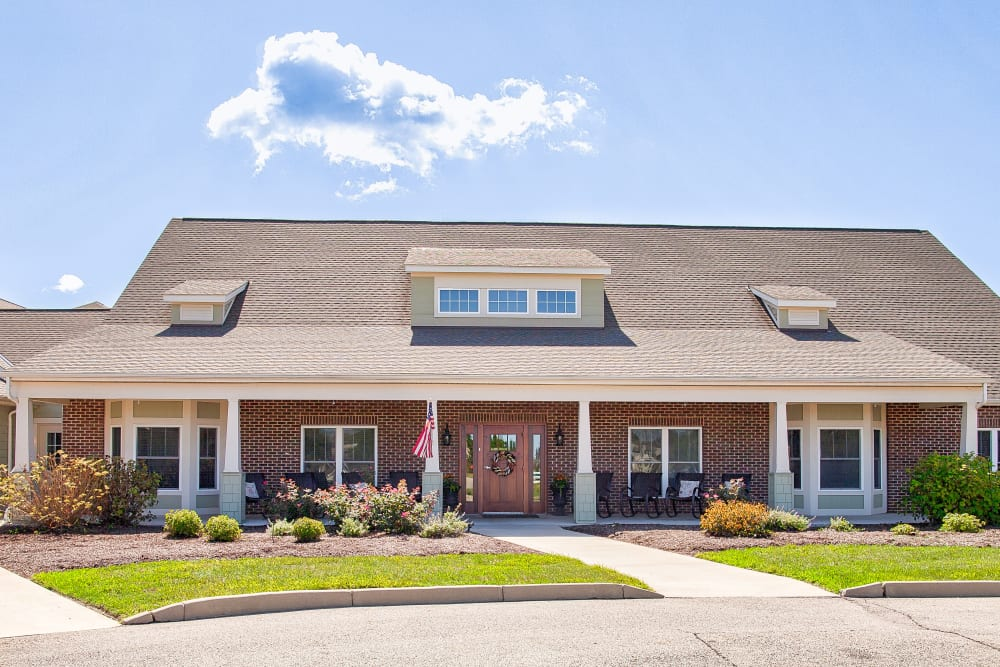 Front entrance on a sunny day at Landings of Huber Heights in Huber Heights, Ohio
